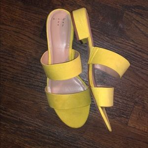 Yellow sandals by A New Day